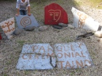 Ceremonial stones in El Batey
