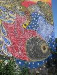 The mural in El Batey