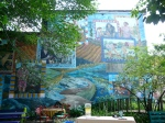 A 2001 mural dedicated to community leaders