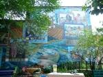 A 2001 mural dedicated to community leaders