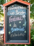 The sign at the festival's entrance