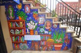 la casa azul mural