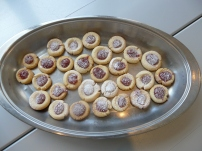 Brazilian Thumbprint Cookies with Powdered Sugar