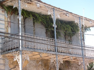 Jacmel's celebrated wrought-iron balconies