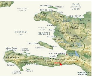 Map of Haiti: Jacmel