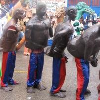 Papier mache costumes