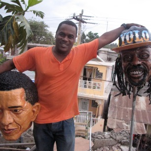 Vady with Obama mask