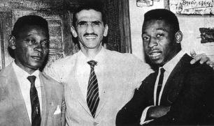 Pelé and his father (far left)