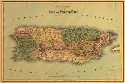 Puerto Rico 1886 Map