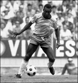 Pelé on the field